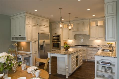 how to install kitchen island new cottage traditional kitchen new york 7263