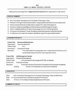 16 resume templates for freshers pdf doc free With cv format for freshers