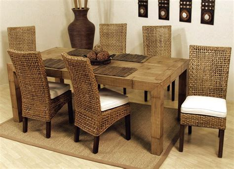 Rattan Dining Chairs Presenting Modern Rusticity For