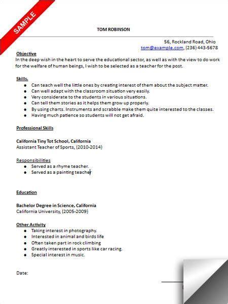 kindergarten resume sle resume exles