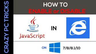 how to enable javascript how to enable java script in internet explorer on windows