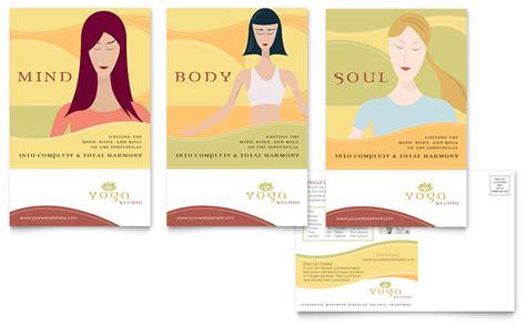 yoga instructor studio postcard template word publisher