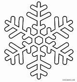Coloring Snowflake Snowflakes Printable Cool2bkids sketch template