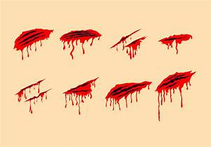 Bloody Scratch Marks Free Vectors - Download Free Vector ...