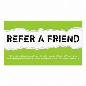 refer a friend page rip color customizable double sided With refer a friend coupon template