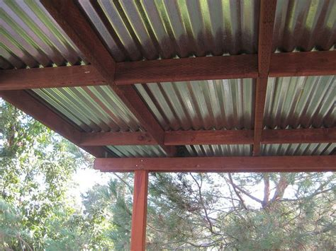 corrugated metal pergola topdeck roof  greenfrieda  flickr roof deck deck awnings