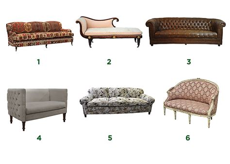types of couches a guide to types and styles of sofas settees 1 english rolled arm sofa or quot club sofa quot 2