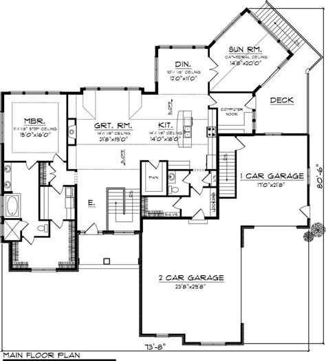 Ranch Style House Plan 96118 with 3 Bed 4 Bath 3 Car