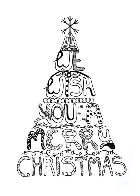 merry coloring pages merry coloring page allfreepapercrafts