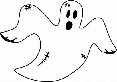 Coloring Ghost Pages Clip Clipart Ghosts Halloween