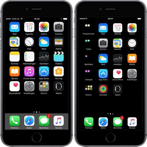 Zwarte Wallpaper Voor Iphone 7 Met Zwarte Mappen En Dock