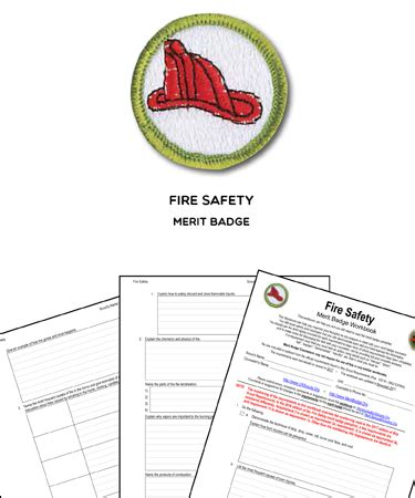 safety merit badge worksheet requirements