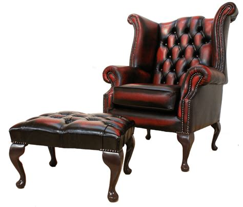 chesterfield high back wing chair oxblood