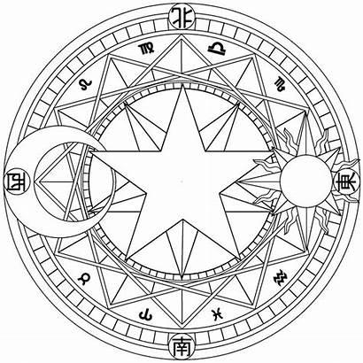Magic Symbols Circle Coloring Circles Pages Mandala