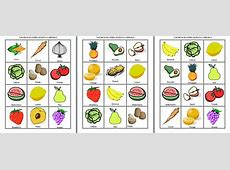 Lotería de frutas y verduras – Material Educativo