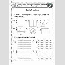 Year 7 Basic Fractions Worksheet By Jlcaseyuk  Teaching Resources