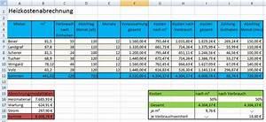 Excel Arbeitszeit Berechnen Formel : l sung heizkostenabrechnung ~ Themetempest.com Abrechnung