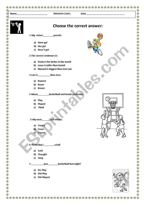 english worksheets review vocabulary and grammar year 6