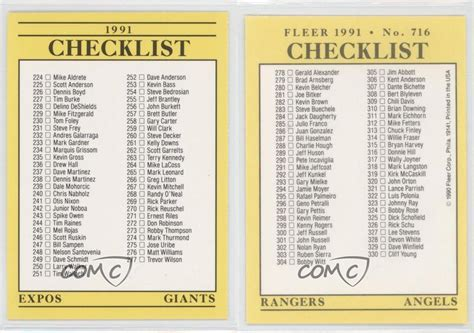 Bowman baseball card checklist home. 1991 Fleer #716 Checklist Baseball Card | eBay