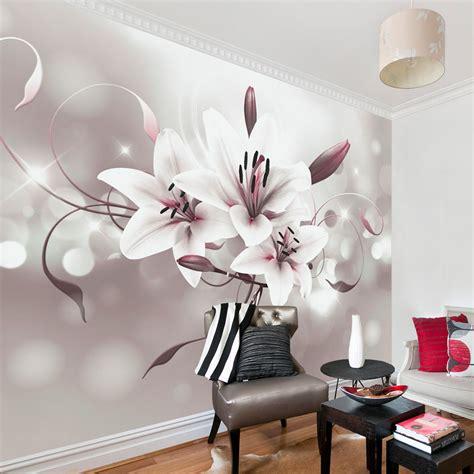fototapete blumen abstrakt lilien vlies tapete wandbilder