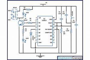 Toggle Switch Using Cd4017