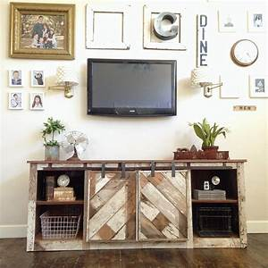 Ana White Grandy Sliding Door Console - DIY Projects