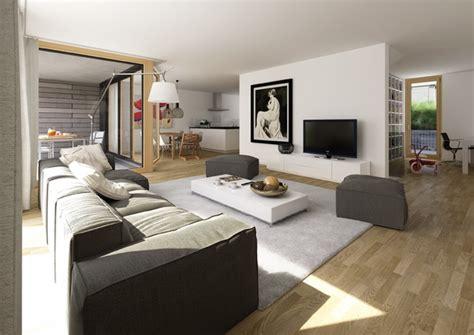 Wohnzimmer Und Küche In Einem Raum