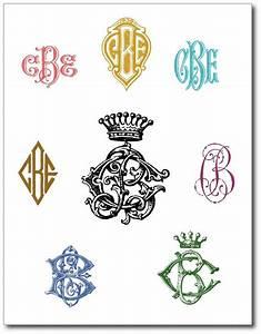 vintage monograms design letters numbers pinterest With vintage monogram letters