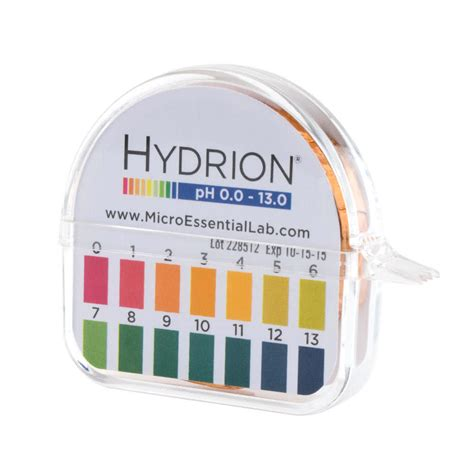 Hydrion 93 Sr Instacheck Ph Test Paper Dispenser Level