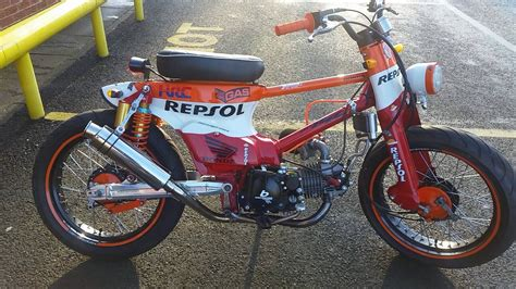 honda cube check out this awesome custom repsol honda c90 cub bemoto