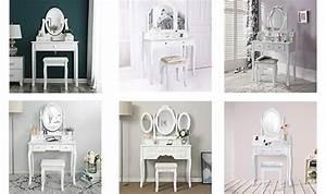 Coiffeuse Moderne Avec Miroir : coiffeuse meuble design pas cher coiffeuse blanche moderne d 39 angle vintage avec miroir led ~ Farleysfitness.com Idées de Décoration