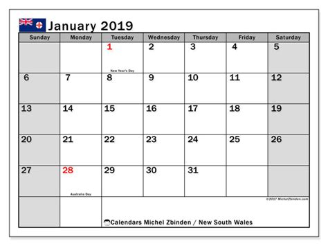 january calendar south wales australia michel zbinden en