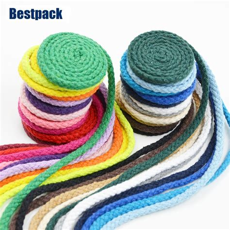 colored cotton rope aliexpress buy 5mm handmade braided cotton rope 22