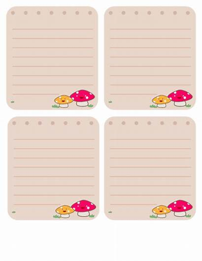 Note Printable Cards Notes Template Notecards Children