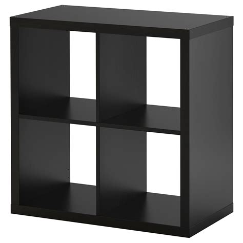 Kallax Shelving Unit Black Brown 77x77 Cm Ikea
