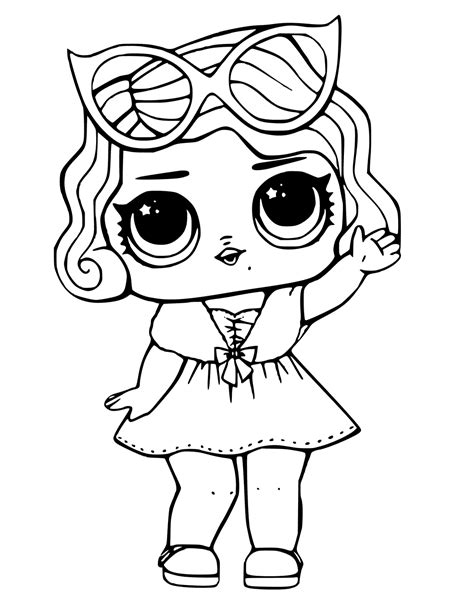 lol surprise dolls coloring pages sketch coloring page