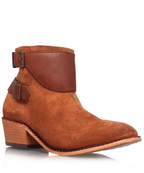 light brown boots mens h by hudson light brown suede lumo ankle boots in brown