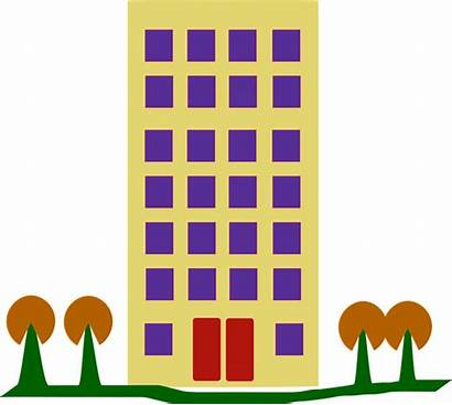 Complex Building Clipart Housing Tall Houses Clipground