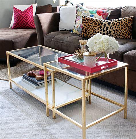 The Blushing Bella Ikea Hack Gold Coffee Table