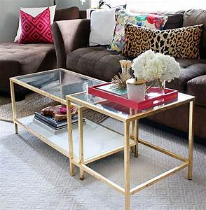 The blushing bella ikea hack gold coffee table for Cheap gold coffee table