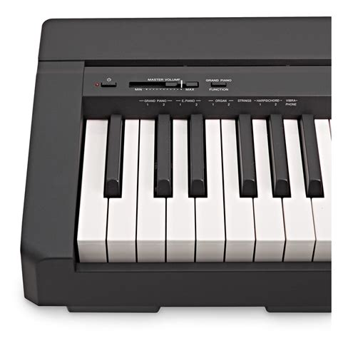 yamaha digital piano yamaha p45 digital piano black at gear4music