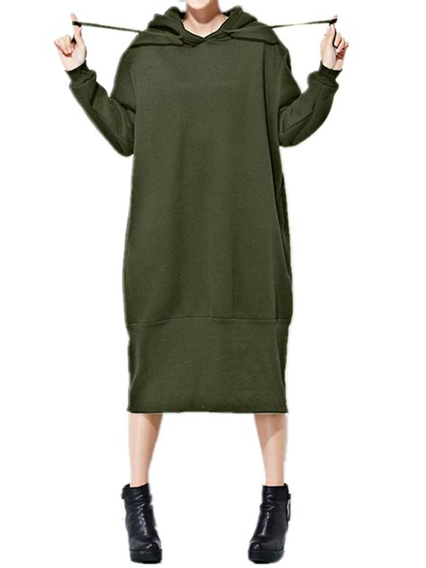 solid color dresses casual solid color sleeve hooded sweatshirt