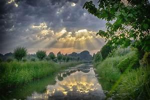 Free, Photo, Sun, Rays, Sunset, Storm, Nature, -, Free, Image, On, Pixabay