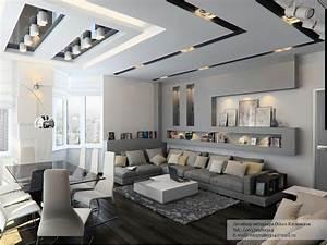 Gray living room decor interior design ideas for Grey living room decor