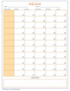 Free Printable Homeschool Weekly Schedule
