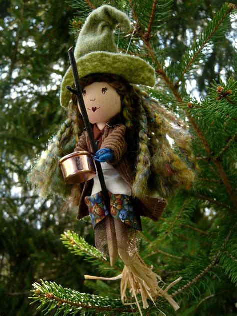 flying   tree kitchen witch clothespin doll flickr