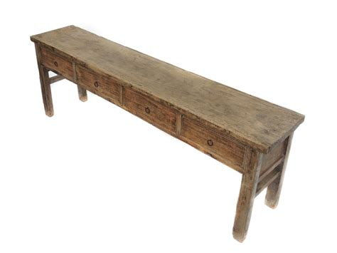 antique large console table  drawers natural color console tables