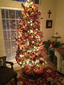 decorate for fall with christmas tree fall pinterest