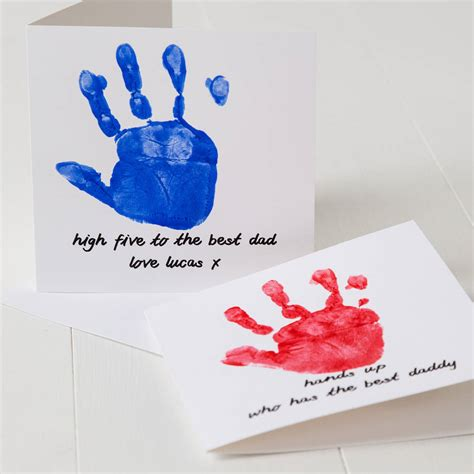 s day handprint card ideas personalised print s day card by twenty seven