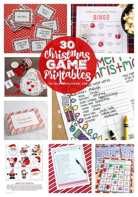 Christmas Charades Game And Free Printable Roundup!  A Girl And A Glue Gun